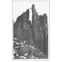 carte postale ancienne 74 CHAMONIX. Clochetons Plampraz. Alpinisme et Ascension