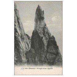 carte postale ancienne 74 CHAMONIX. Grimpée Aiguille. Alpinisme et Ascension