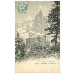 carte postale ancienne 74 CHAMONIX. Hôtel Montenvers Aiguille Dru
