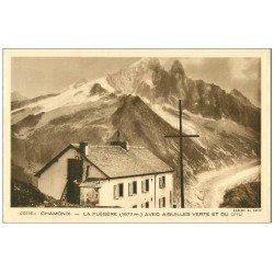 carte postale ancienne 74 CHAMONIX. La Flégère Aiguilles Verte et Dru