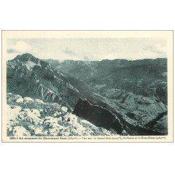 carte postale ancienne 74 CHARMANT SOM. Saint-Pierre et Mont Blanc