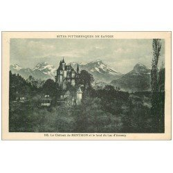 carte postale ancienne 74 CHATEAU DE MENTHON.