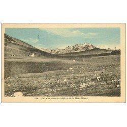 carte postale ancienne 74 COL DES ARAVIS. Mont Blanc 1921