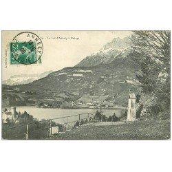 carte postale ancienne 74 DUINGT. Le Lac d'Annecy 1908