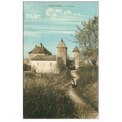 carte postale ancienne 74 ETREMBIERES. Le Château animation
