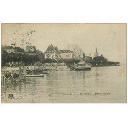 carte postale ancienne 74 EVIAN-LES-BAINS. Le Port 1910