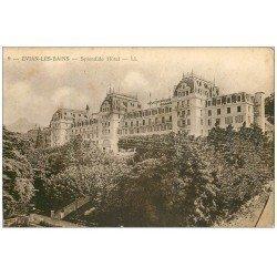 carte postale ancienne 74 EVIAN-LES-BAINS. Plendide-Hôtel.