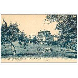 carte postale ancienne 74 EVIAN-LES-BAINS. Royal-Hôtel et Vaches dans les Prés