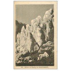 carte postale ancienne 74 SAINT-GERVAIS-LES-BAINS. Bionnassay Sérac au Glacier 1928