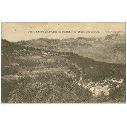 carte postale ancienne 74 SAINT-GERVAIS-LES-BAINS. Chaîne Aravis et Pointe Percée
