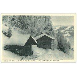 carte postale ancienne 74 SAINT-GERVAIS-LES-BAINS. Châlets Refuges en Montant au Prarion