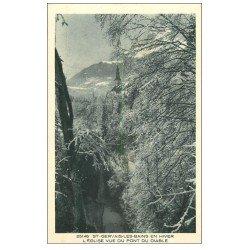 carte postale ancienne 74 SAINT-GERVAIS-LES-BAINS. Eglise
