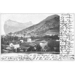 carte postale ancienne 74 SAINT-GERVAIS-LES-BAINS. Le Village. Timbre 10 Centimes 1902