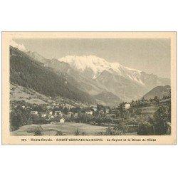 carte postale ancienne 74 SAINT-GERVAIS-LES-BAINS. Neyret et Dôme de Miage 1922