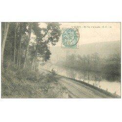 carte postale ancienne 14 CLECY. Du Vey à la Lande 1905