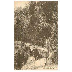 carte postale ancienne 74 SAINT-GERVAIS-LES-BAINS. Pont du Diable. Edition Baud