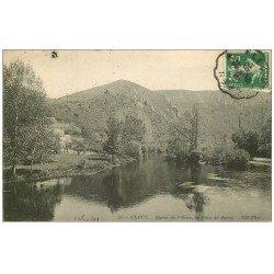 carte postale ancienne 14 CLECY. L'Orne au Pain de Sucre 1912