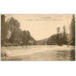 carte postale ancienne 14 CLECY. L'Orne et Déversoir du Moulin du Vey
