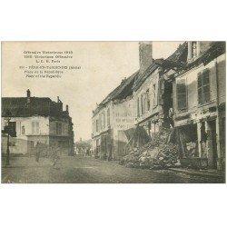 carte postale ancienne 02 FERE-EN-TARDENOIS. Place de la Republique 1919