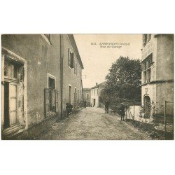carte postale ancienne 26 ANNEYRON. Rue du Garage 1916 bien animée