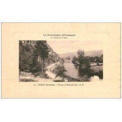 carte postale ancienne 14 CLECY. Vue sur le Pont du Vey 12