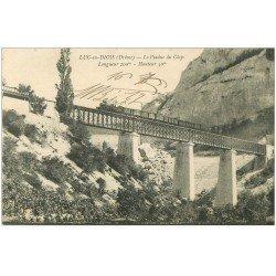 carte postale ancienne 26 LUC-EN-DIOIS. Train sur le Viaduc du Claps 1917