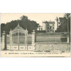 carte postale ancienne 26 MONTELIMAR. La Bégude de Mazenc. Château de Loubet