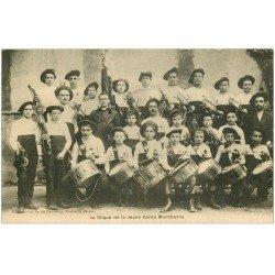carte postale ancienne 26 MONTELIMAR. La Clique de la Jeune Garde Montilienne. Musique et Musiciens. Tambours et Clairons