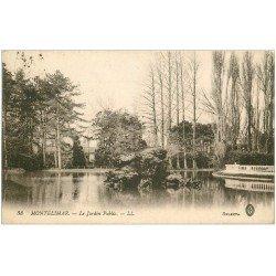 carte postale ancienne 26 MONTELIMAR. Le Jardin Public Tampon Militaire 1915