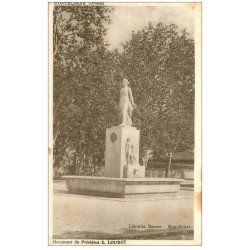 carte postale ancienne 26 MONTELIMAR. Monument du Président Loubet 1948
