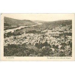 carte postale ancienne 26 NYONS. Ville et Vallée de l'Aygues