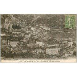 carte postale ancienne 26 PONT DE BARRET. Le Village vers 1920...