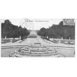 carte postale ancienne 78 VERSAILLES. Carte mignonette du Bassin de Latone 1906. 13.5 x 7 cm