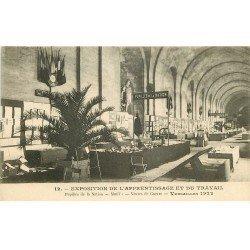 carte postale ancienne 78 VERSAILLES. 1922 Exposition Apprentissage et Travail. Pupilles Mutilés et Veuves