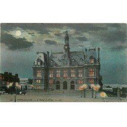carte postale ancienne 78 VERSAILLES. Hôtel de Ville1907. Carte montage : les lumières s'allument à contre-jour