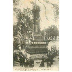 carte postale ancienne 78 VERSAILLES. Roi et Reine Italie. Pylone décoré en 1903