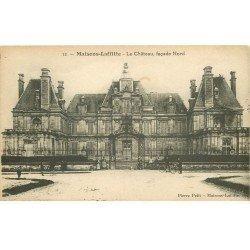 carte postale ancienne 78 MAISONS-LAFFITTE. Le Château de Mansart avec Cyclistes 1924