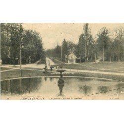 carte postale ancienne 78 MAISONS-LAFFITTE. Avenues Lafayette et Mirabeau 1909 animation