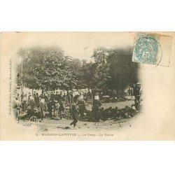 carte postale ancienne 78 MAISONS-LAFFITTE. Le Camp la Pause 1904