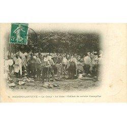 carte postale ancienne 78 MAISONS-LAFFITTE. Cabinet de toilette Champêtre au Camp 1908