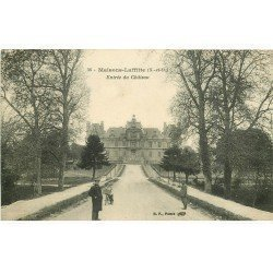 carte postale ancienne 78 MAISONS-LAFFITTE. Entrée du Château