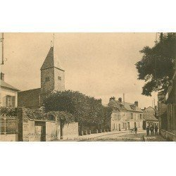 carte postale ancienne 78 BONNIERES-SUR-SEINE. L'Eglise animation