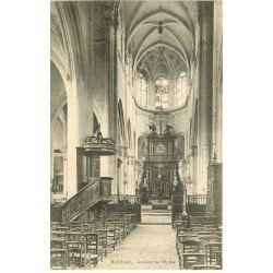 carte postale ancienne 78 HOUDAN. L'Eglise intérieur vers 1907