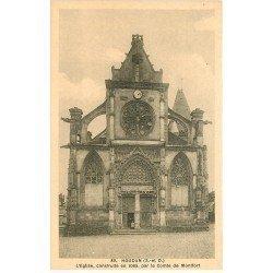 carte postale ancienne 78 HOUDAN. Eglise animation