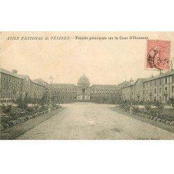carte postale ancienne 78 LE VESINET. Cour Asile National Façade 1904