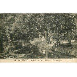 carte postale ancienne 78 LE VESINET. Effet Mirage aux Petites Rivières 1918