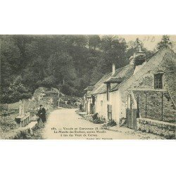 carte postale ancienne 78 CHEVREUSE. Moulin des Rochers bien animé