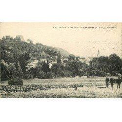 carte postale ancienne 78 CHEVREUSE. Cultivateur et son Cheval