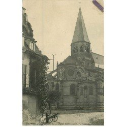 carte postale ancienne 78 POISSY. Eglise Abside