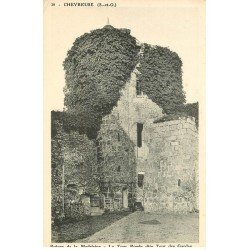 carte postale ancienne 78 VALLEE DE CHEVREUSE. Madelaine Tour Ronde des Gardes